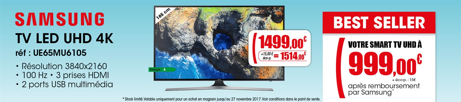 TV LED Samsung UE65MU6105KXXC